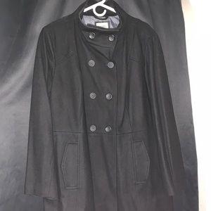 OLD NAVY Women's Black Wool Coat